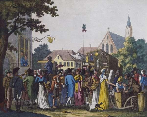 Market, 1810 (colour engraving)