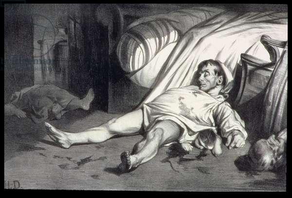 Rue Transnonain, April 15, 1834 (lithograph)
