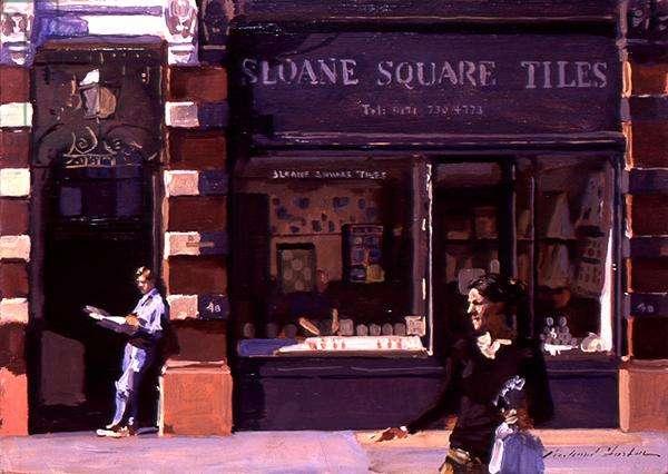 Sloane Square Tiles, 1997 (oil on canvas)