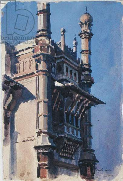 Top of Gate, Bijapur (w/c on paper)