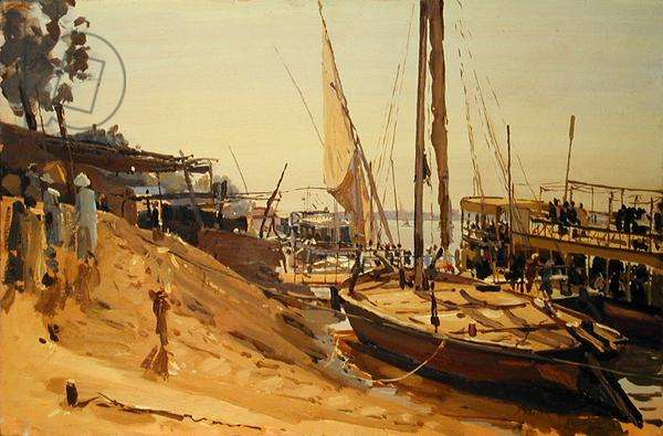 Luxor Ferry (oil on canvas)