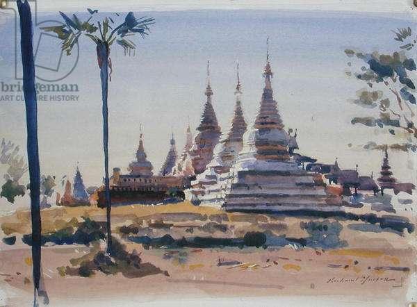White Pagodas (w/c on paper)