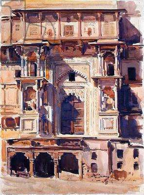 Orchha, front of Fort, 1992 (w/c on paper)