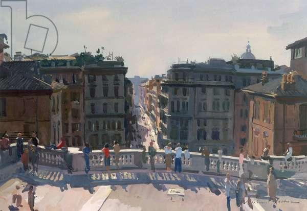 Piazza di Spagna (w/c on paper)