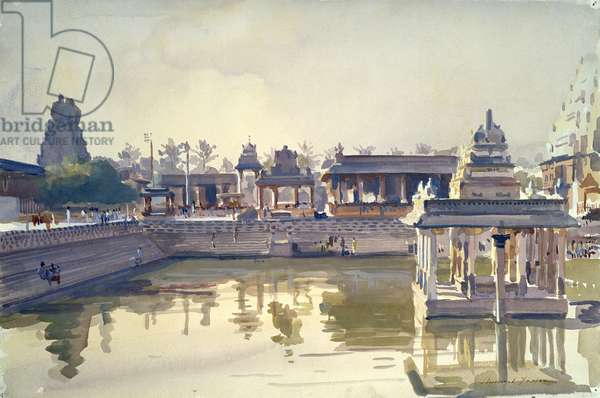 Kanchipuram Temple, Dawn (w/c on paper)