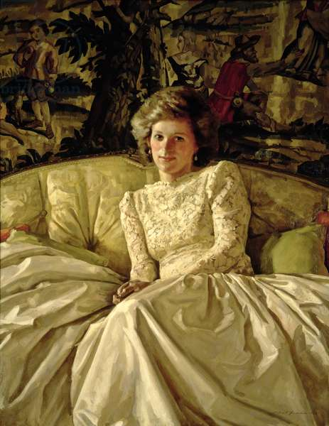 HRH Princess of Wales (1961-97), 1986 (oil on canvas)