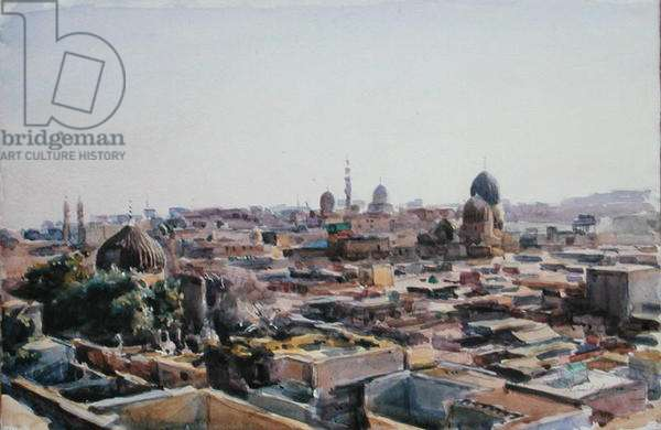 City of the Dead, Cairo (w/c on paper)