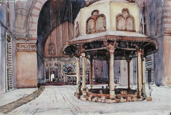 Sultan Hassan, Cairo (w/c on paper)