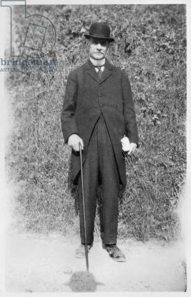 Henri de Gaulle (1848-1932) at Chaville (b/w photo)