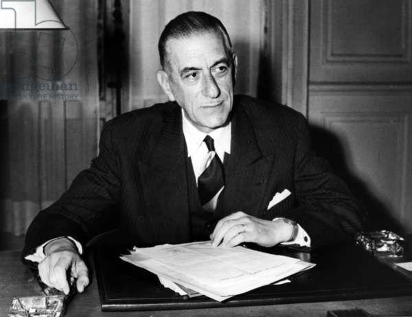 Pierre de Gaulle, father of Charles de Gaulle, c.1950 (b/w photo)
