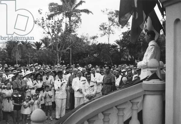 Free France in French Equatorial Africa, General Charles de Gaulle (1890-1970) at Leopoldville, 1940 (b/w photo)