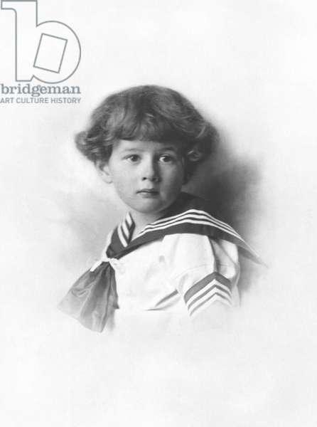 Philippe de Gaulle (b. 1921) as a child, 1924 (b/w photo)