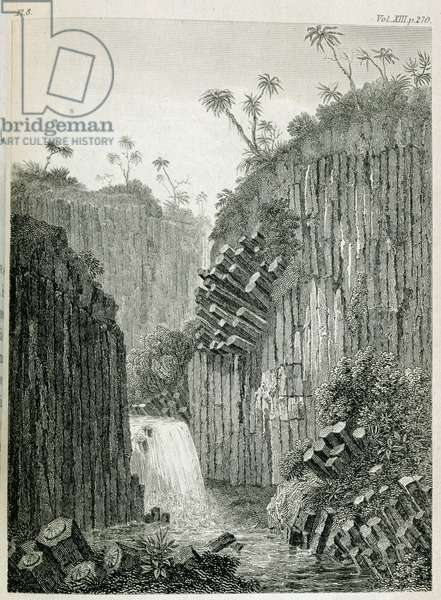 T.1597 Cascade of Regla, near Mexico, from Vol I of 'Researches concerning the Institutions and Monuments of the Ancient Inhabitants of America with Descriptions and views of some of the most Striking Scenes in the Cordilleras', pub. 1814 (lithograph)