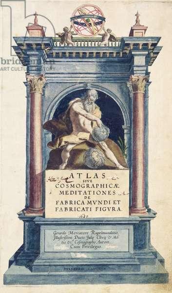Title page of Mercator Atlas (16th century)