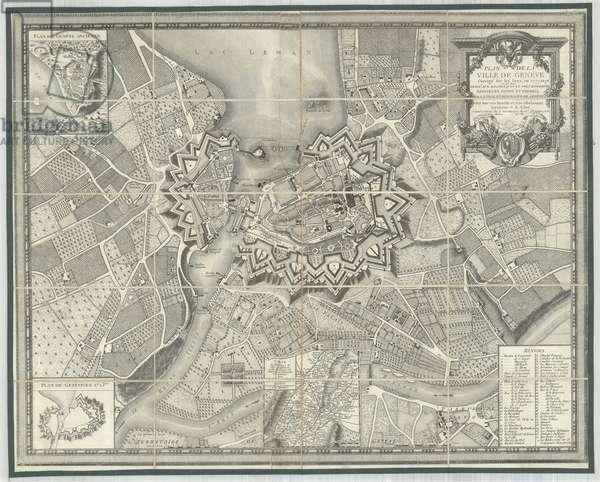 Plan de la Ville de Genève Corrigé sur les lieux, by Glot and Meyer, 1777 (litho)