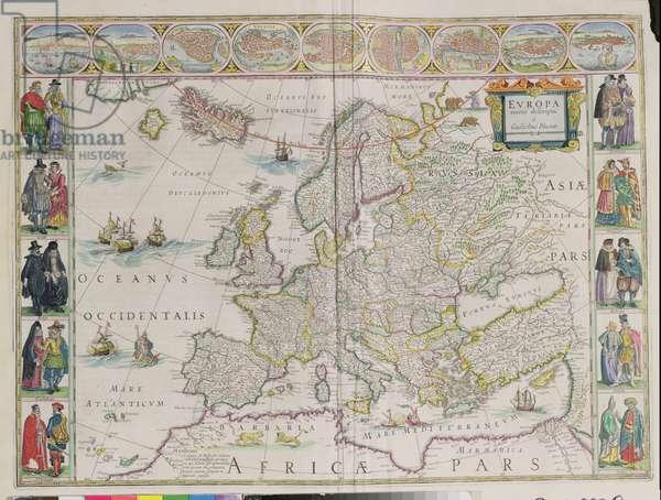 q.404 Europa Recens Descripta - Europe, 1617, by Willem Blaeu (d.1638)