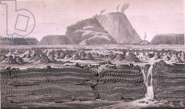 T.1604 Volcano of Jorullo, from Vol II of 'Researches concerning the Institutions and Monuments of the Ancient Inhabitants of America with Descriptions and views of some of the most Striking Scenes in the Cordilleras', c.1814 (lithograph)