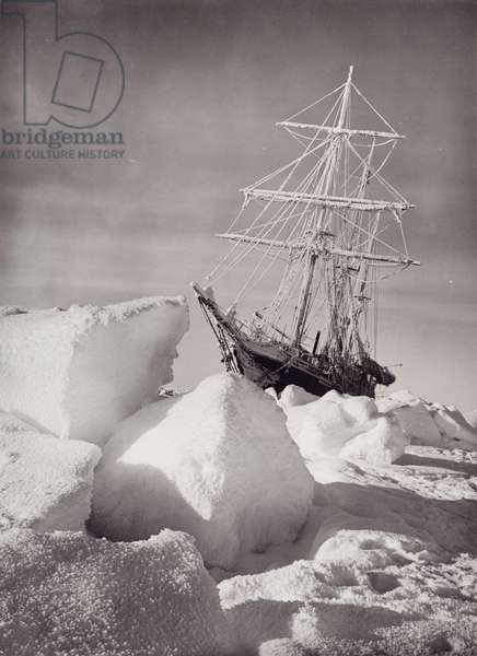 'Endurance' frozen in the ice, c.1915 (b/w photo)