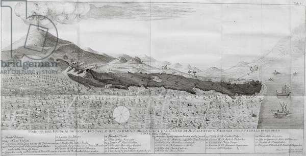 The eruption of Mount Vesuvius in 1774, 1786 (engraving)