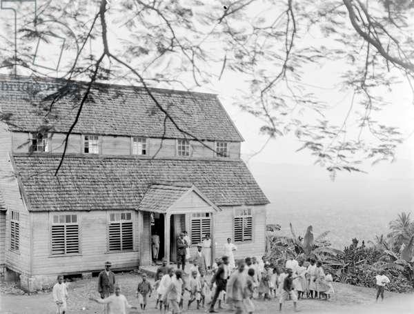 A country school, Jamaica, 1908-09 (b/w photo)