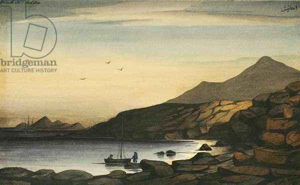 Hanieh Island, Jibul, Red Sea, c.1833 (w/c on paper)