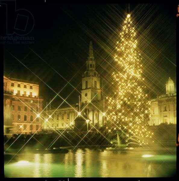 Trafalgar Square at Night (photo)