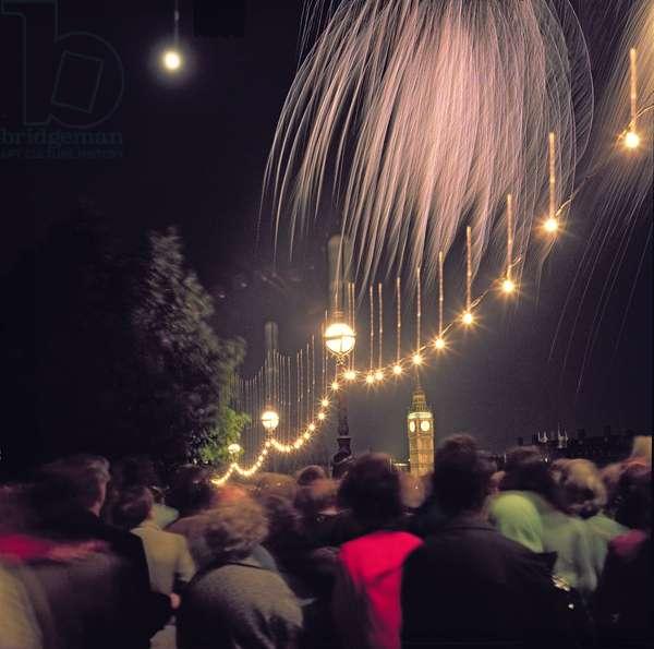 Fireworks over Westminster (photo)