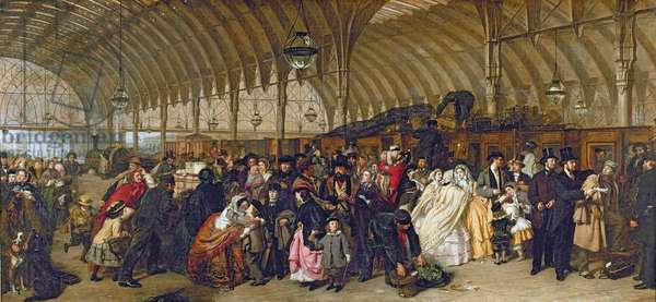 The Railway Station, 1862 (oil on canvas)