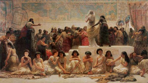 The Babylonian Marriage Market, 1875 (oil on canvas)