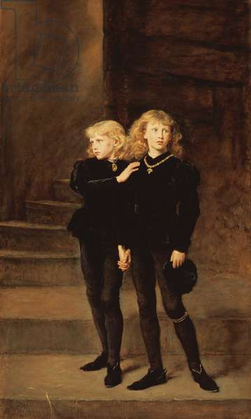 The Princes Edward and Richard in the Tower, 1878 (oil on canvas)