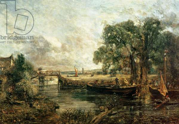Sketch for 'View on the Stour, near Dedham' 1821-22 (oil on canvas)