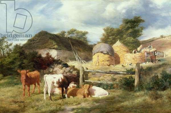 A Highland Croft, 1873 (oil on canvas)