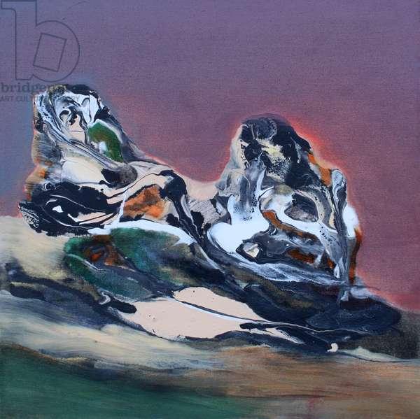Silently Waiting, 2018 (oil & acrylic on canvas)
