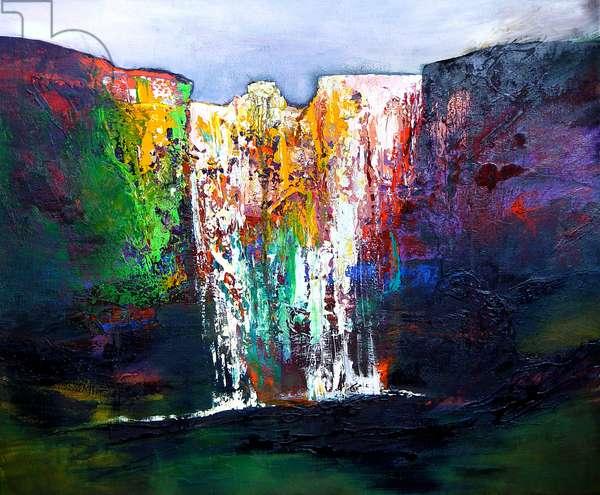 Skogafoss Falls, 2007 (oil on linen)