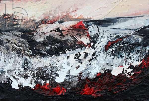 Molten, 2014 (oil on canvas on panel)
