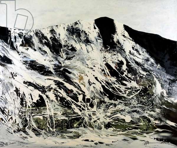 Mountain Peaks, 2008 (oil & arylic on linen)