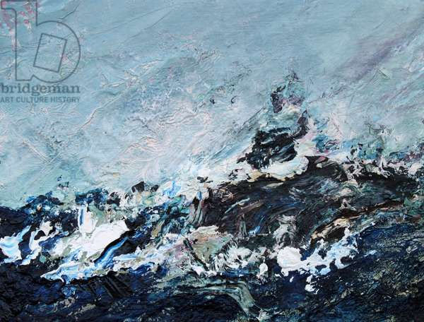 Billow, 2015 (oil on canvas on panel)
