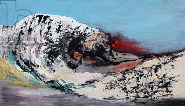 Frozen Earth, 2015 (oil on linen)