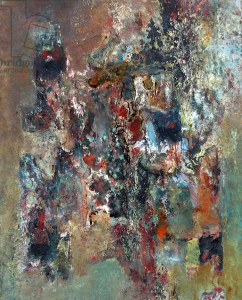 In The Undergrowth, 1986 (oil & collage on canvas)