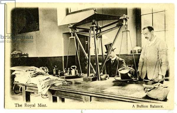 A Bullion Balance, The Royal Mint, c.1900-20 (litho)