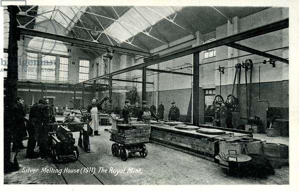 Silver Melting House, The Royal Mint, 1911 (litho)