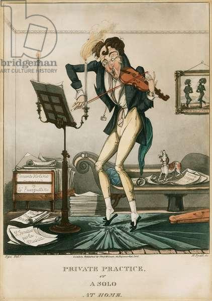 Niccolo Paganini - caricature