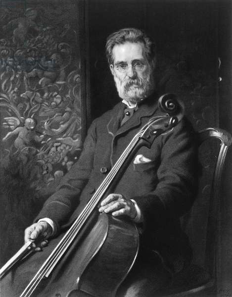 Alfredo Piatti portrait with cello.
