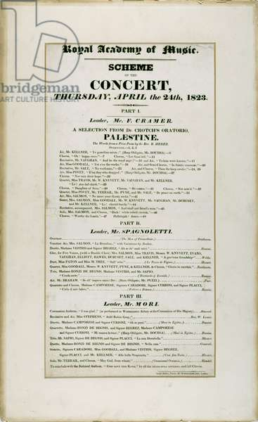 Playbill advertising concert at