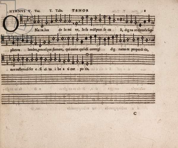 partbooks. Cantiones, 1575. Tenor 8.