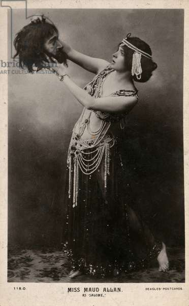 Miss Maud Allan as 'Salome'