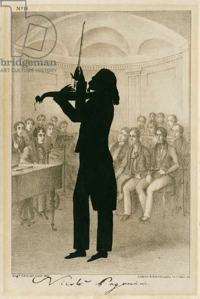Niccolo Paganini - silhouette