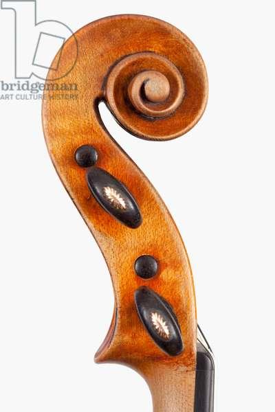 Violin (scroll), Turin, 1847