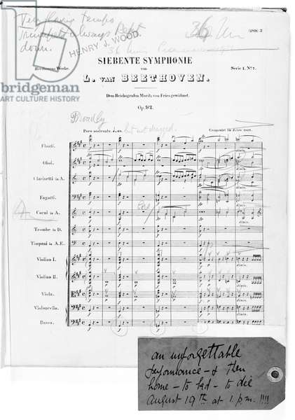 Beethoven's Seventh Symphony first