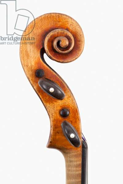 Violin (scroll), Cremona, 'Habeneck', c.1734